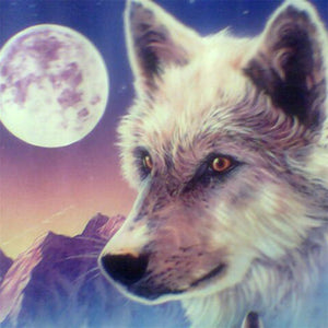 Full Moon Wolf 5D Diamond Painting Kit