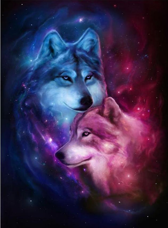 Space Wolf Diamond Painting Kit