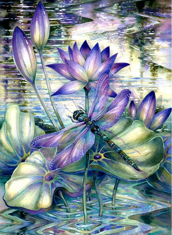 Lilly Dragonfly Diamond Painting