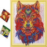 Red Wolf Diamond Painting