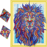 Fiery Lion Special Diamond Painting