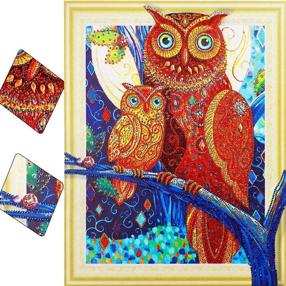 Owl Family Special Diamond Painting