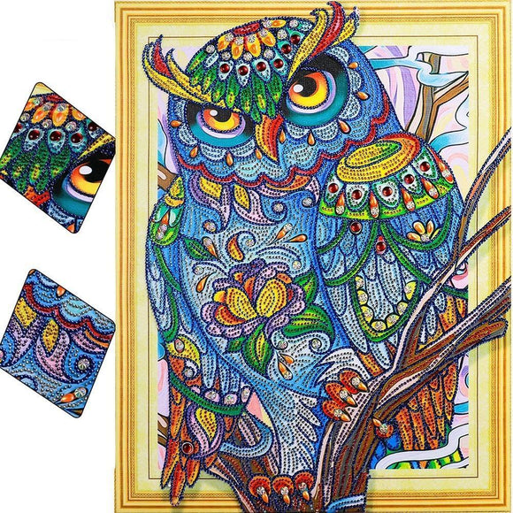 Wise Owl Special Diamond Painting