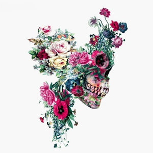 Floral Skull Day of the Dead Diamond Painting