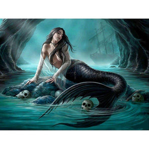 Dark Mermaid Diamond Painting