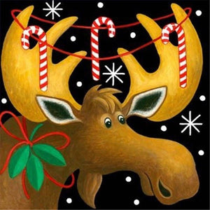 Diamond Painting Starter Kit ~ Candy Cane Reindeer