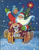 Santa's Sleigh Friends Diamond Painting Kit