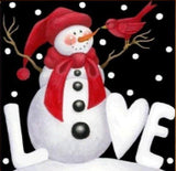 Love Snowman Diamond Painting Kit