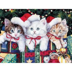Christmas Kittens Diamond Painting Kit
