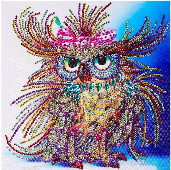 Special Diamond Painting Starter Kit Fancy Owl