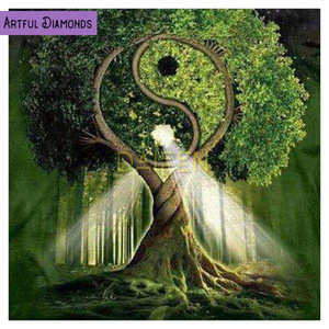Yin Yang Tree Of Life Diamond Painting Kit