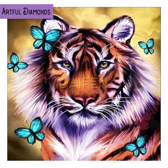 Diamond Painting Starter Kit Tiger Butterflies