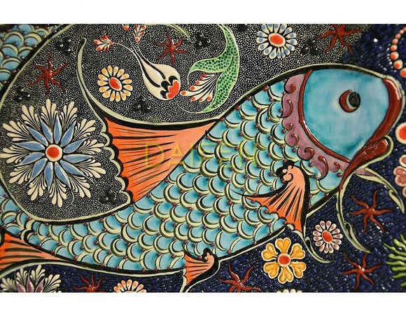 Art Nouveau Mosaic Fish Diamond Painting Kit