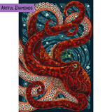Kraken Deep Sea Octopus Diamond Painting Kit