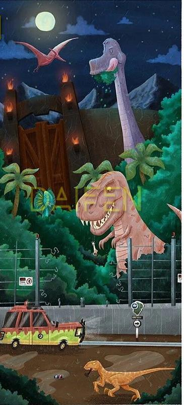 Jurassic Park Dinosaur Animation Diamond Painting Kit
