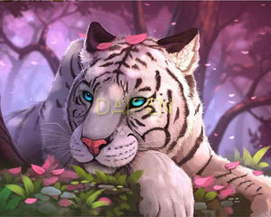 White Tiger Fairytale Diamond Painting Kit