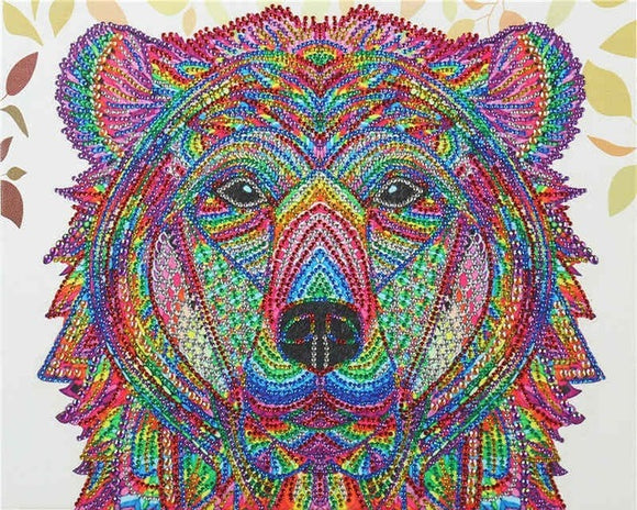 Diamond Painting Starter Kit Rainbow Bear Special