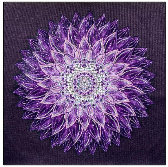 Purple Mandala Rhinestone Diamond Painting Starter Kit