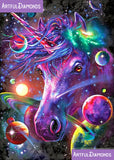 Rainbow Space Unicorn Diamond Painting Kit