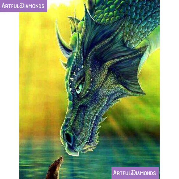 Emerald Dragon Diamond Painting Kit