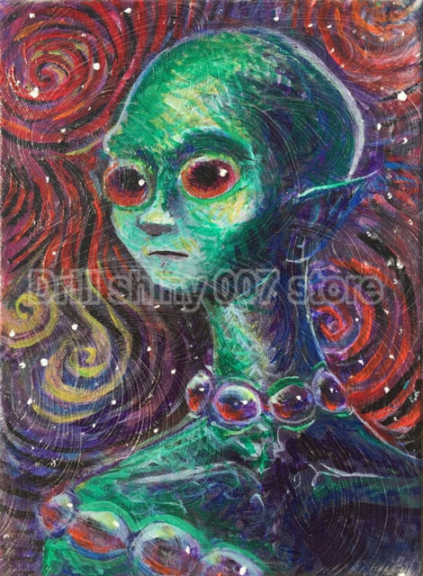Cosmic Alien Woman 5D DIY Diamond Painting Kit