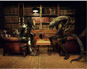 Alien VS Predator Library Chess 5D DIY Diamond Painting Kit