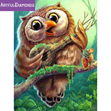 Nature's Music Banjo Owl Diamond Painting Kit