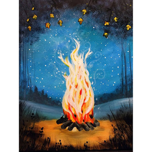 Camp Fire Diamond Painting Kit