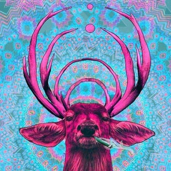 Trippy Deer Smoking Diamond Painting Kit