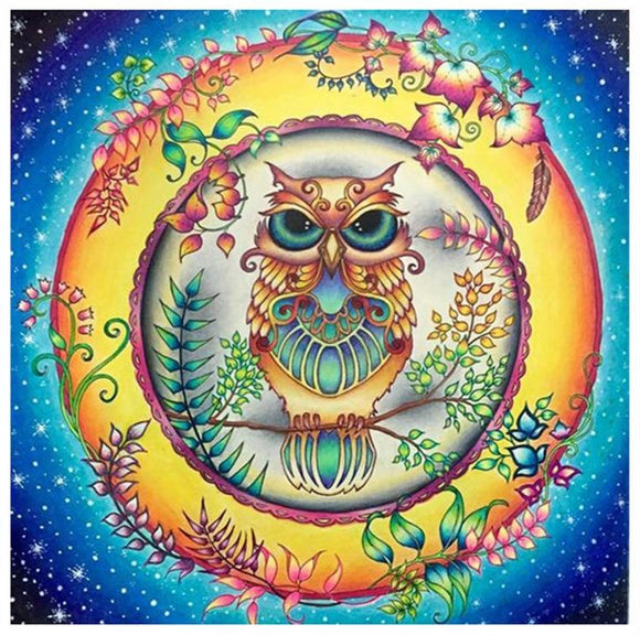 Earthly Owl Diamond Painting Kit
