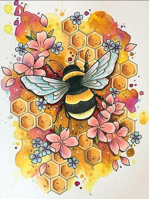 Bees Knees Honeycomb Diamond Painting Kit
