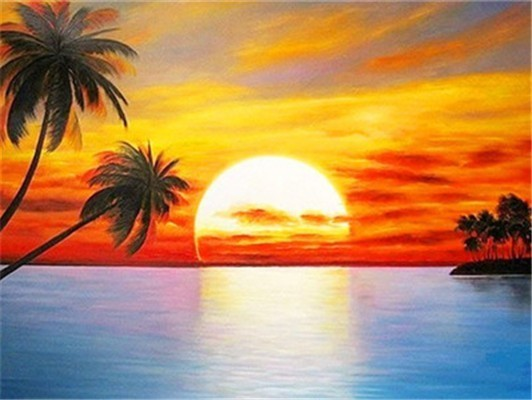 Sunset Diamond Painting Starter Kit ~ 8x10