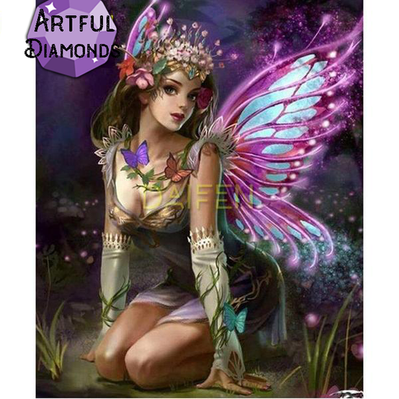 Butterfly Night Fairy Diamond Painting Kit