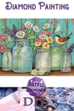 Whimsy Flower Jars Diamond Painting Kit