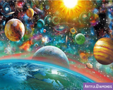 Universe Space Solar System Diamond Painting Kit