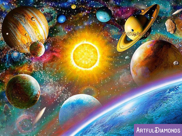 Universe Solar System Sun Moon Galaxy Diamond Painting kit