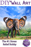 Butterfly Elephant Diamond Painting Kit