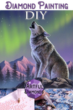 Howling Wolf Alaska Diamond Painting Kit