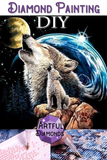 Howling Wolf Cub In Space Diamond Painting Kit