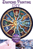 Astrological Zodiac Signs Sun Moon Diamond Painting Kit