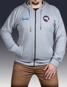 Melbourne Ice Hockey Grey Zip Hoodie