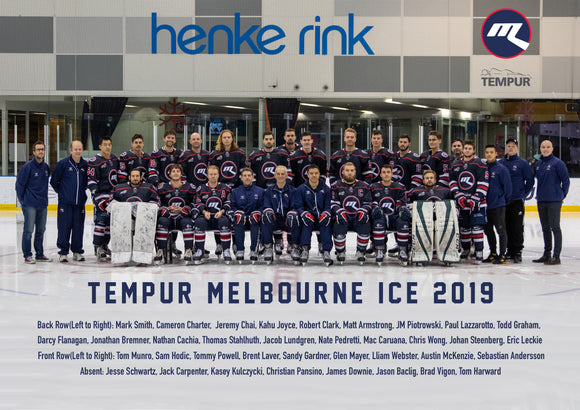 Melbourne Ice Team Photo 2019 (Framed)
