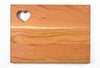 "Cherry Cutting Board - Heart (9"" x 12"")"