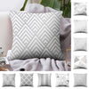 DIDIHOU 45*45cm Gray Striped Geometric Cushion