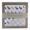 Blue Deer and Glacier Grey Newcastle Blanket