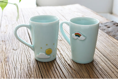 Creative  lovely weather mood ceramic cup