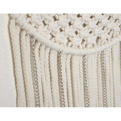Metal Accented Macrame Wall Hanging
