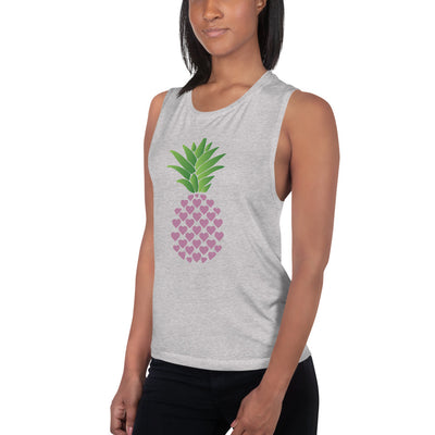 Ladies' Muscle Tank Pineapple