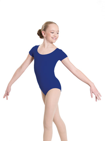 Seamless Short Sleeve Leotard