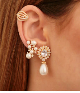 Steph Drop Pearl 18k Gold plated Earring - Sweetas Trends